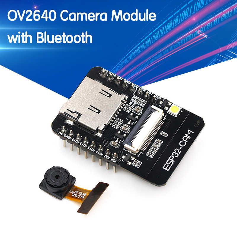 ESP32 DC 5V Dual Core con m/ódulo de tarjeta TF para c/ámara OV2640 Placa de desarrollo inal/ámbrica Bluetooth con WiFi Diymore ESP32-CAM