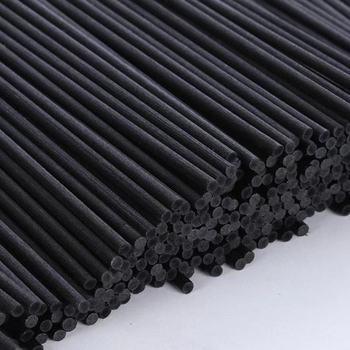 De varillas de fibra negra de 22cm x 3mm para difusor de aceites esenciales de ratán, varillas de recambio para ambientador de coche, 500 Uds.