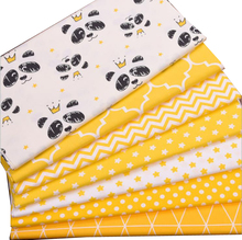 Syunss Hot Yellow Crown Bear Stars Wave Cotton Fabric Diy Patchwork Cloth For Quilting Baby Cribs Cushions Dress Sewing Tissus