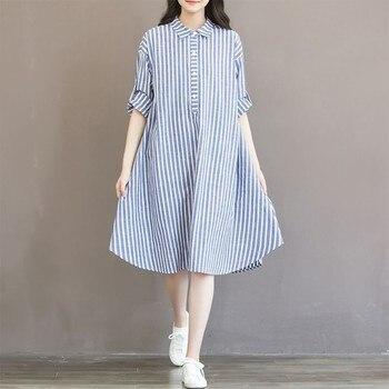Striped Pregnant Maternity Dress for Women 1