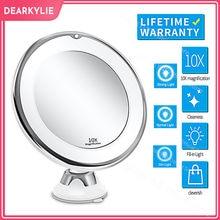 зеркало с подсветкой косметическое зеркало для макияжа подсветка для зеркала для бритья дома 10X светильник светодиодный косметический уве...