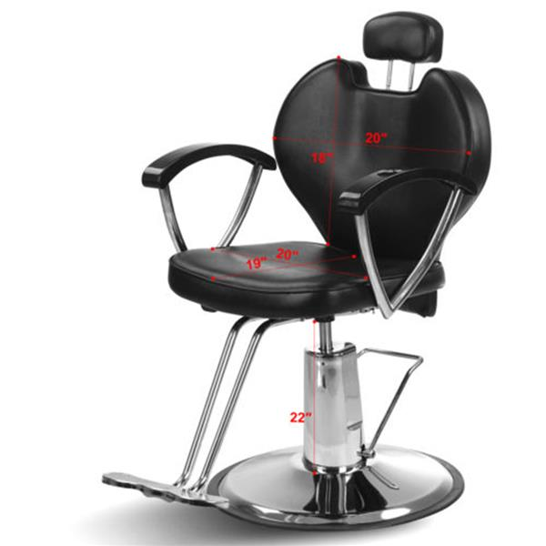 PVC leather HZ8712 Professional Portable Hydraulic Lift Man Barber Chair Black Free Shipping