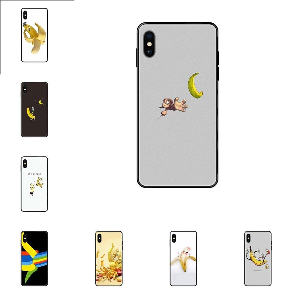 For Apple iPhone 11 12 Pro X XR XS MAX 5 5S 5C SE 6 6S 7 8 Plus Fundas Phone Case Cover Funny Banana