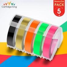 Fluorescent-Tapes Dymo 3d Motex E101 Label-Maker Plastic 12965 Compatible for 9mm 5PK
