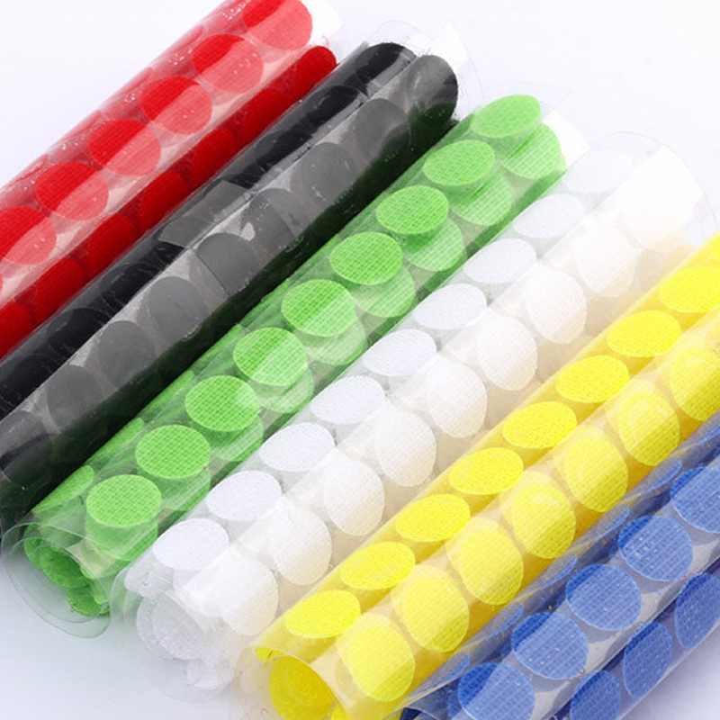 Boob Tape Self Adhesive Fastener Tape Velcros Dots Sticks 10mm Nylon Hook Loop Magic Tape 1cm Velcros Adhesivo for Tools 99pair
