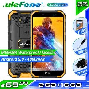 Image 1 - Osłona Ulefone X6 IP68 wodoodporny smartfon MT6580 czterordzeniowy Android 9 odblokowanie twarzą 2GB 16GB, 4000mAh 3G wersja globalna telefon