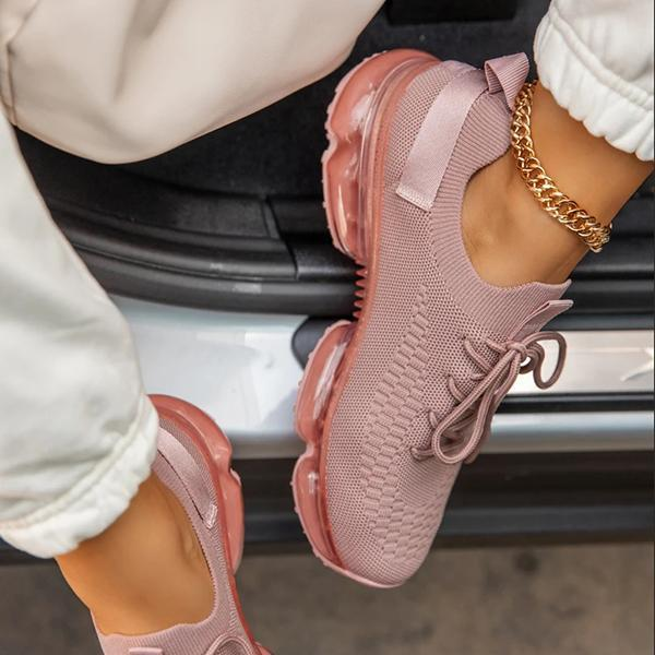 Women Vulcanized Shoes Mesh Lace Up Female Sneakers Comfort Walking Shoes Woman Casual Breathsble Ladies Plus Size Autumn New