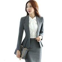 Высокое качество, модная тонкая женская одежда, костюмы, офисная одежда, рабочая Женская куртка с длинным рукавом, Женская юбка для формального костюма