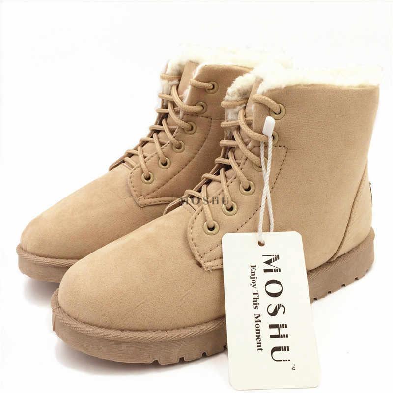 Kadınlar için 2020 kışlık botlar klasik süet kar sıcak çizmeler kadın kürk astarı yarım çizmeler yüksek kaliteli Zapatos De Mujer
