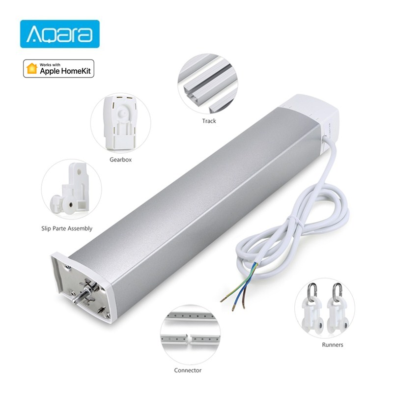 Xiaomi Aqara Serpentine Curtain Track Motor 3m/4m/5m 82 Rotating Box Smart Home Rmote Control Curtain Motor For Mi Home App