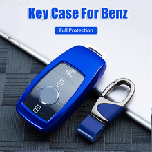 ABS Car Key Case Cover Shell Bag Full Protective For Mercedes Benz 2017 E Class W213 2018 S Class Accessories Car Styling