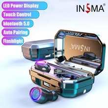 INSMA M12 4000mAh bluetooth 5.0 Stereo Wireless Earphones Waterproof Earbuds Wit