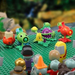 Image 1 - 20 PCS Plants vs Zombies Figures Building Blocks PVZ Action Figures Dolls Game Brick Toys For Children Collection Toys For Adult