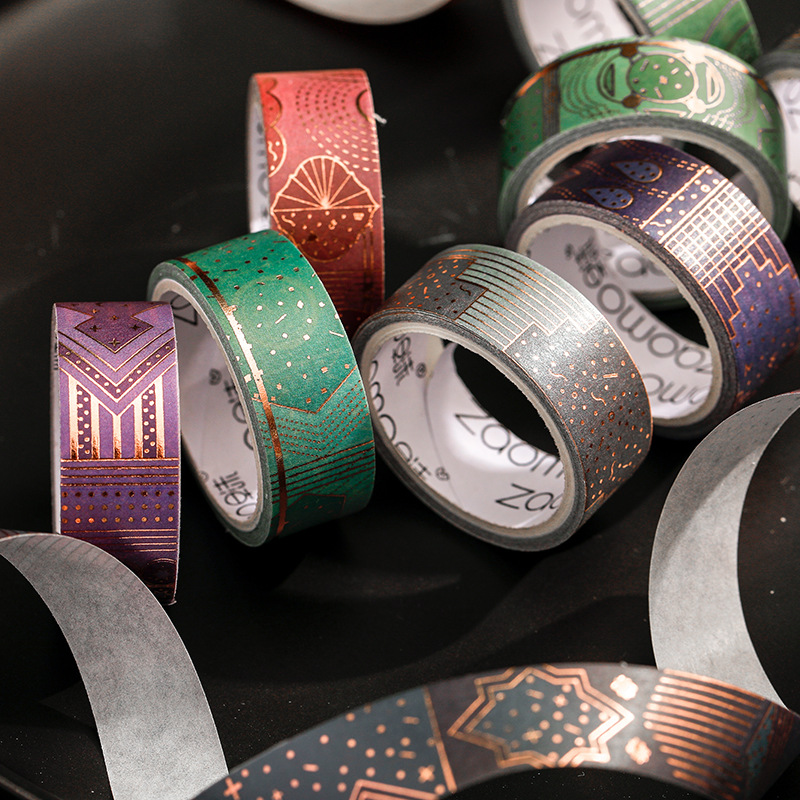 3 Meters Long Beautiful Romantic Gold Foil Washi Tape Scrapbooking DIY Decor Diary Album Notebook Stick Lable Stationery