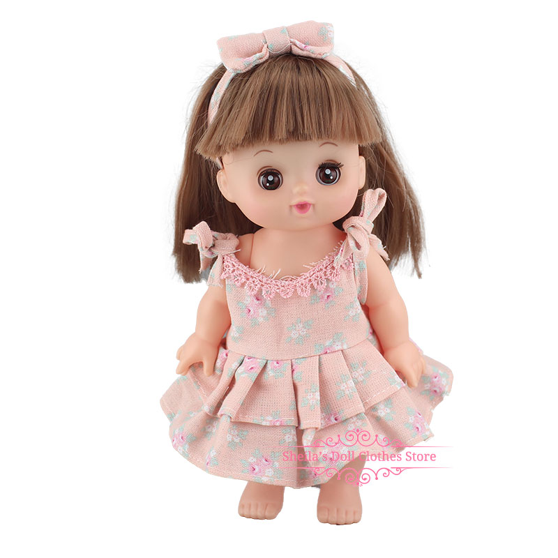 Fashion Lovely New Striped Jumpsuit For 25cm Mellchan Baby Doll Clothes Accessories