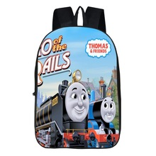 Thomas School Bag, Cartoon Animation Locomotive Backpack Young STUDENT'S Backpack Large Capacity Burden Relieving