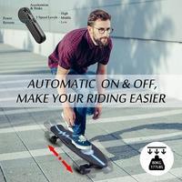 35.4x9.1x4.9inch Electric Skateboard PU Wheel Hub Dual-Motor Skateboard with Remote Control 29.4V 4000mAh Lithium Battery 29