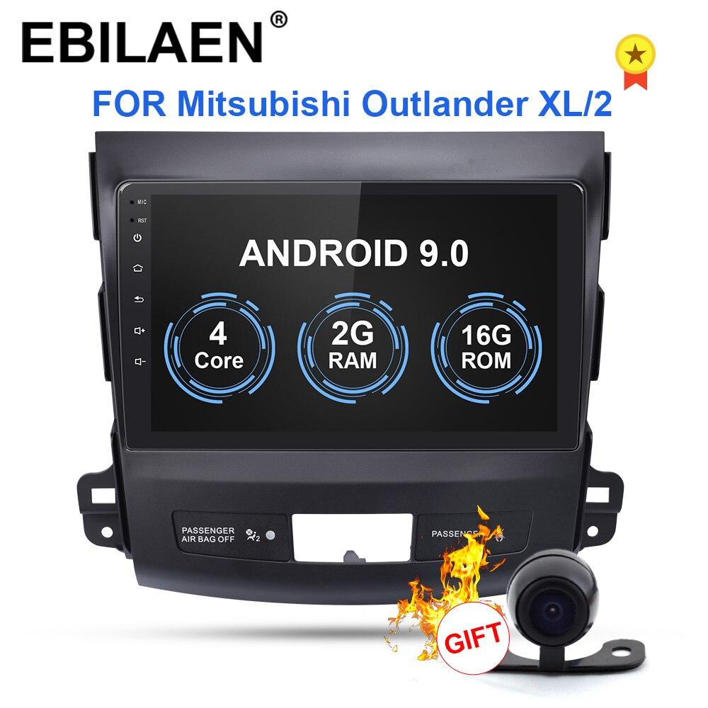 Lecteur multimédia de DVD de voiture d'ebilaen pour Mitsubishi Outlander XL 2005-2014 2din Android 9.0 Radio magnétophone Navigation GPS