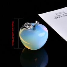 1pcs natural crystal rose quartz apple ornament fashion couple Christmas home decoration wedding accessories
