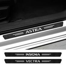 Autocollants de seuil de porte de voiture, 4 pièces, pour Opel Astra, Adam, Combo, Corsa, Crossland, X, Grandland, Insignia, Meriva, Mokka, OPC, Tigra, Vectra, Vivaro