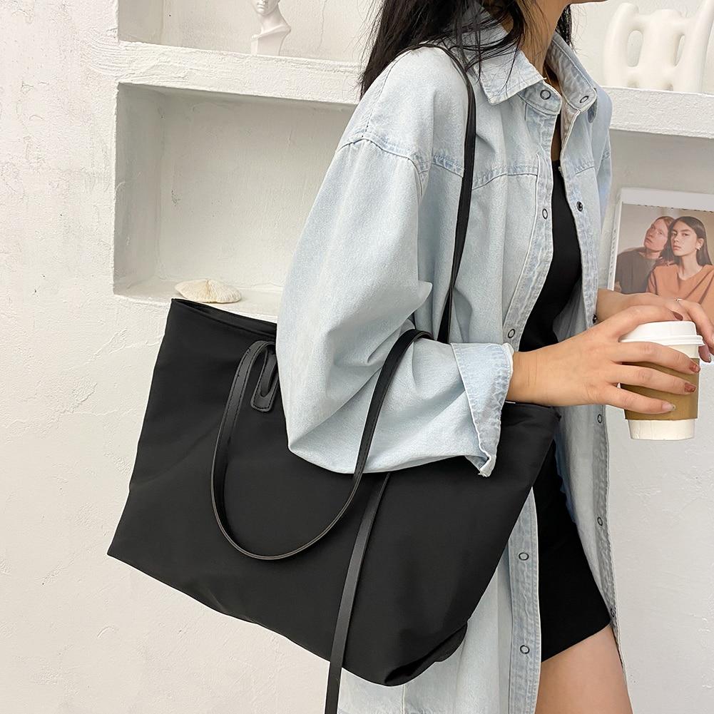Повседневная нейлоновая водонепроницаемая сумка, Женская вместительная сумка через плечо с верхней ручкой, повседневная дорожная модная с...