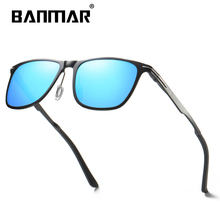 BANMAR Men Polarized Sunglasses Aluminum Magnesium Sun Glasses Driving Glasses Square Shades For Men Oculos masculino Male banmar aluminum magnesium men sunglasses polarized sports driving goggles sunglass fishing uv400 square sun glasses for men