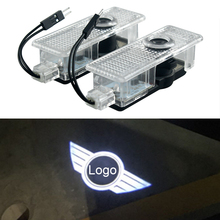 Car-Door-Light Welcome-Decor Led-Logo-Projector Countryman F56 JCW R60 Mini Cooper Lamps