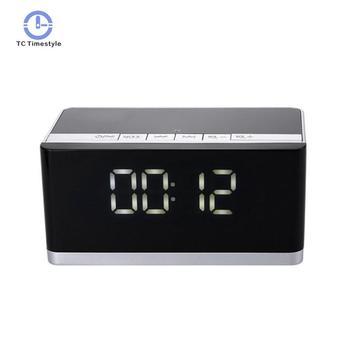 Smart Alarm Clock Wireless Bluetooth 3d Surround Sound Dual Speaker Clocks Radio Gift Bass Fm