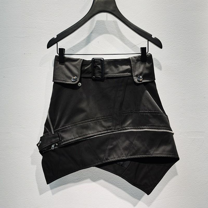 Women Skirt Irregular Belt Wild Skirt