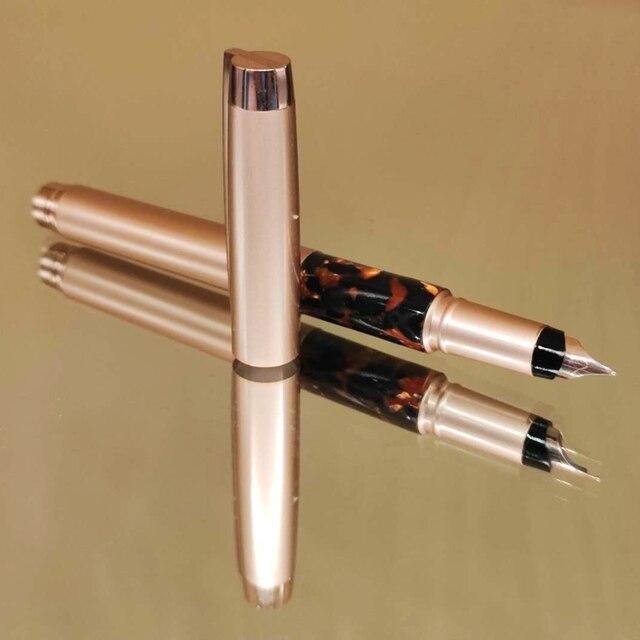 A00657High qualité stylo plume vintage de luxe pour écrire des stylos à encre en laiton pour lécole et le bureau fournitures cadeau papeterie coréenne