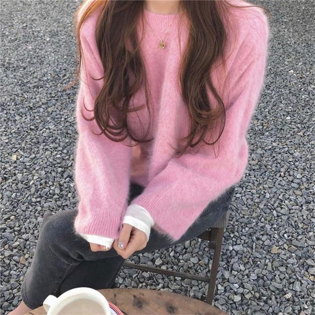 Фото женские норковые кашемировые кардиганы осень зима корейские цена