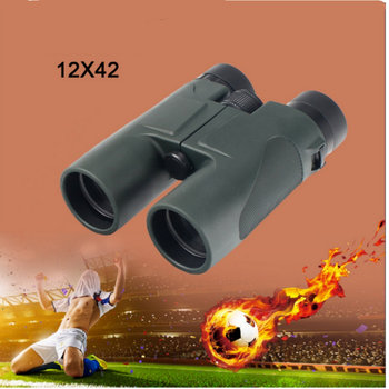Military 12X42 HD Telescope Wide-angle Power Zoom Binoculars No Infrared Eyepiece for Russia Football Hiking Camping
