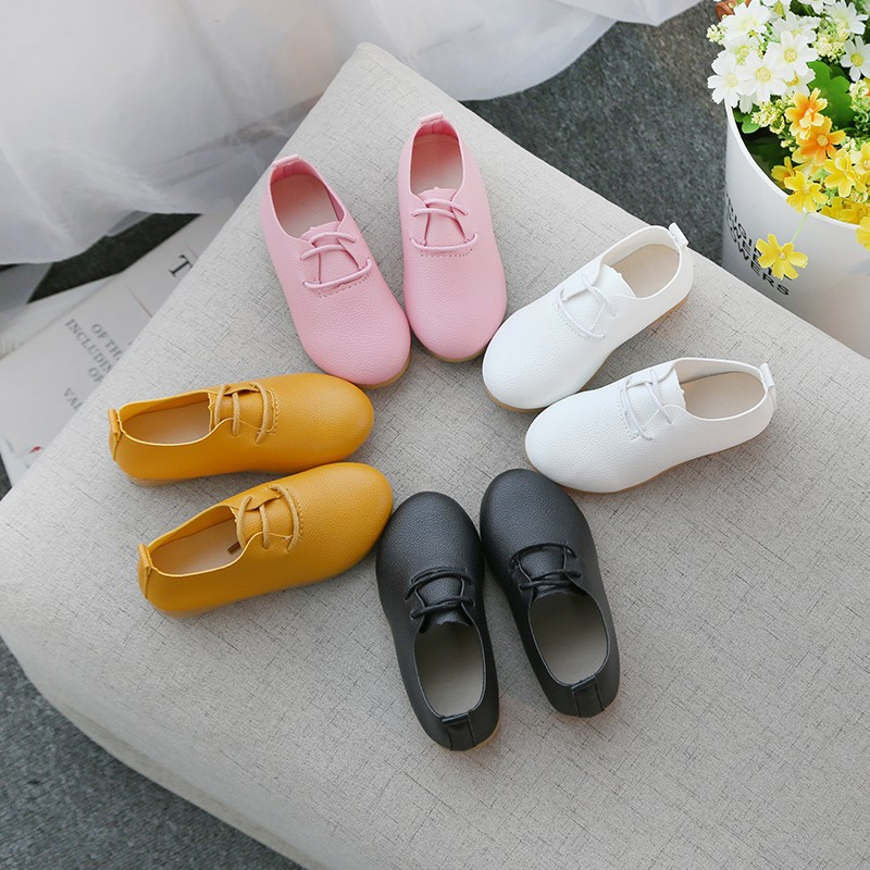 Children New Boys Pu Leather Wedding Dress Shoes For Girls Kids Baby Black School Performance Formal Flat Loafer Moccasins Shoes