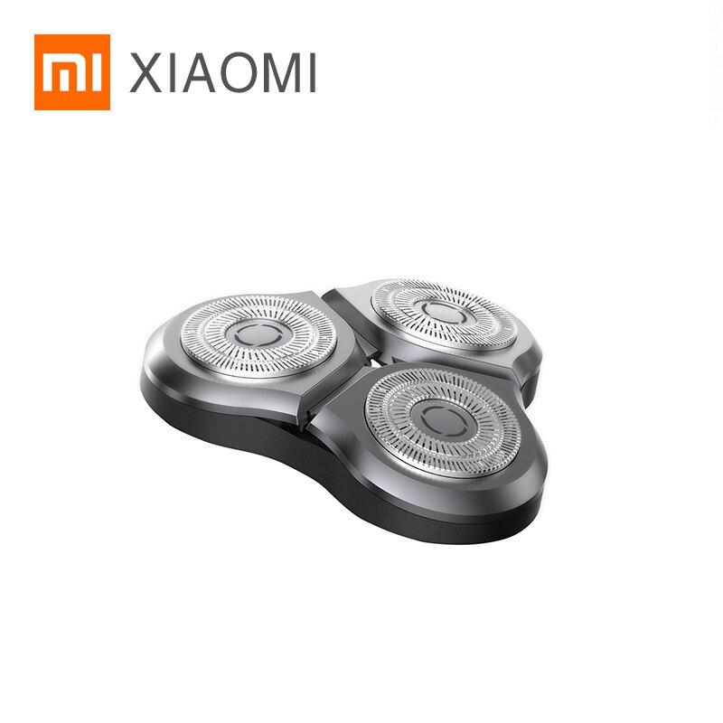 الأصلي شاومي MIJIA ماكينة حلاقة كهربائية S500 S500C قطع الغيار الترددية مزدوجة القاطع رئيس الملحقات القاطع رئيس