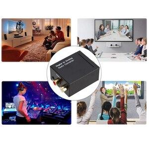 Image 5 - 3.5mm דיגיטלי לאנלוגי ממיר אודיו מגבר מפענח אופטי סיבי קואקסיאלי אות אנלוגי סטריאו אודיו מתאם