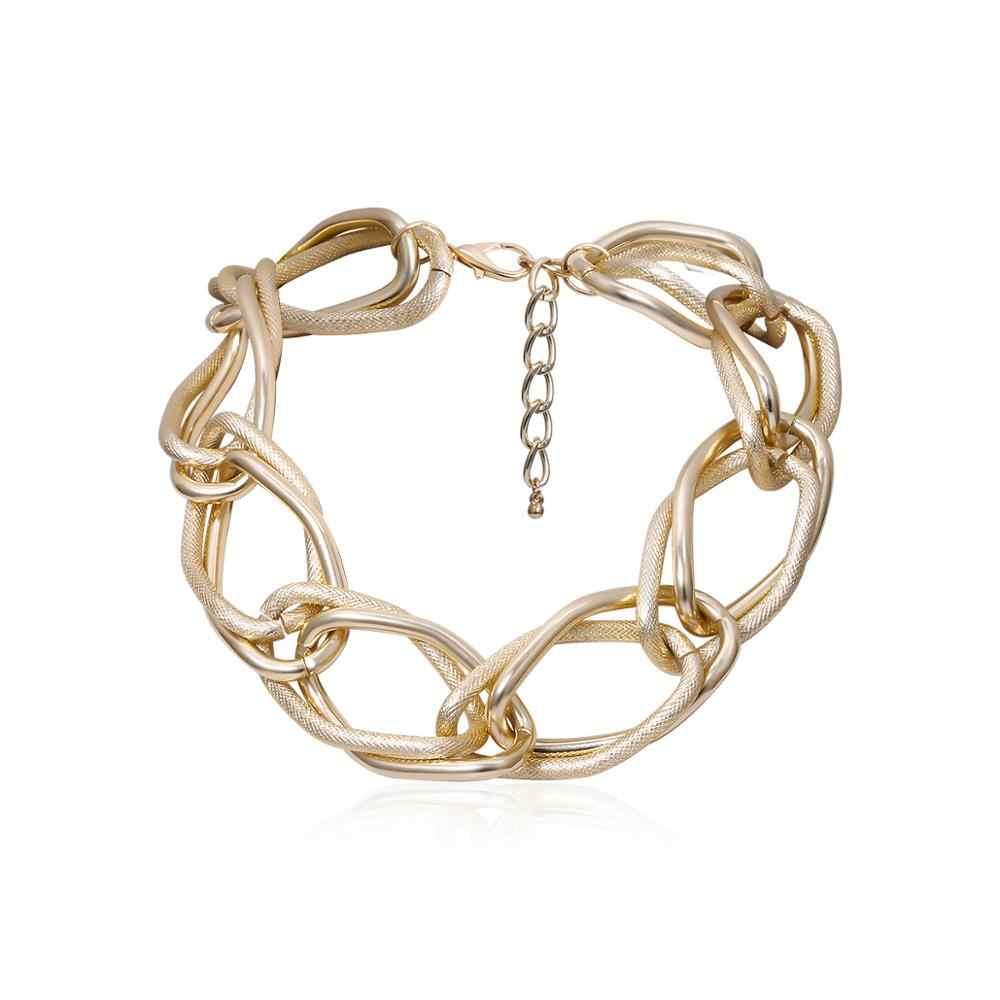 Unique grande chaîne trapue collier déclaration Steampunk hommes gothique célèbre marque torsadé serrure collier ras du cou femmes bijoux de mode