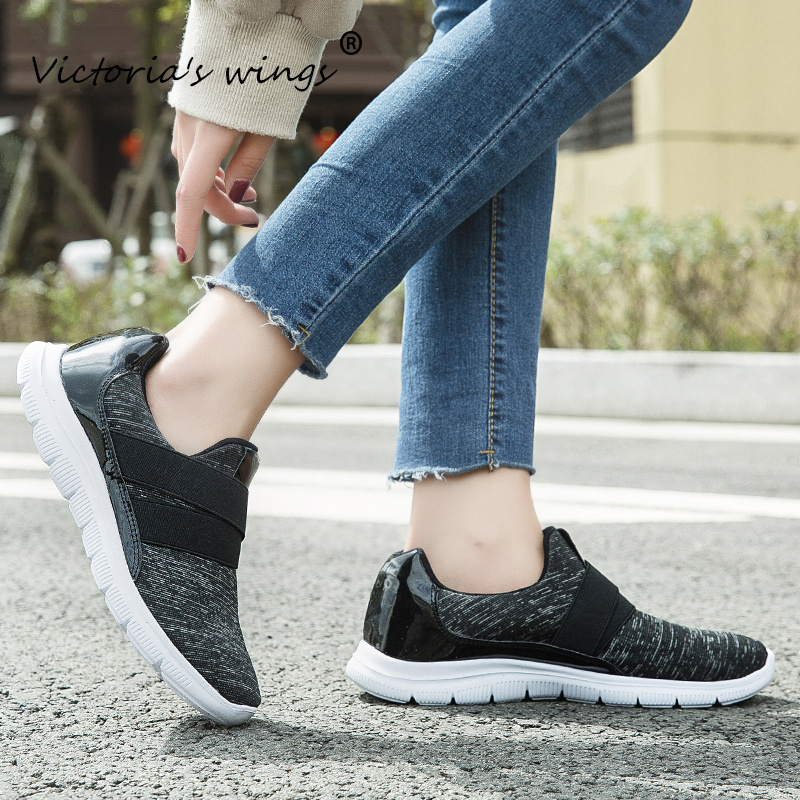 New Victoria's wings Women's 2020 Flat Shoes Autumn Comfort Non-slip Sneakers Women's Casual Outdoor Loafers Women's Shoes