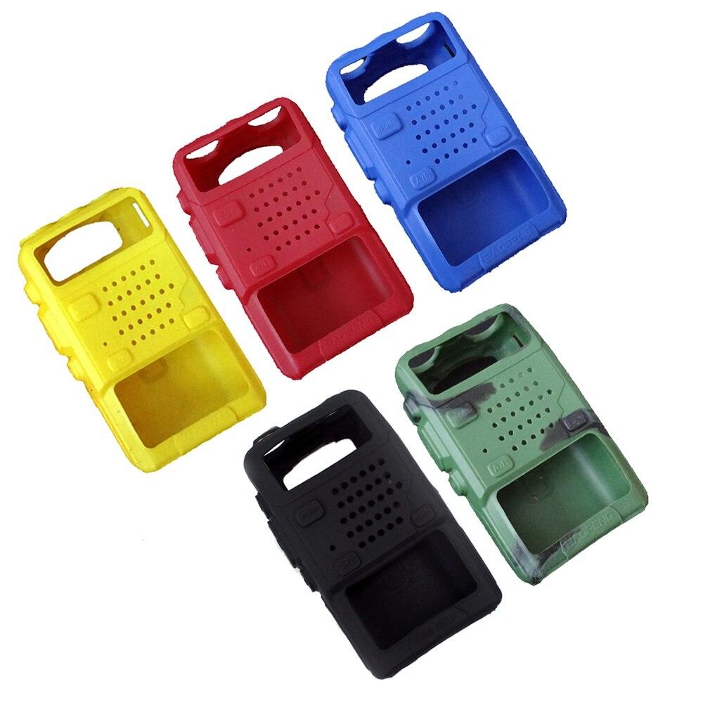 2pcs BAOFENG UV-5R Case Silicone Rubber Cover Bumper For  F8+ UV-5RB UV-5RE DM-5R Plus Walkie Talkie Uv5r Accessories