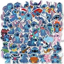 50pcs Anime Cartoon Stitch Girl Stickers Waterproof Skateboard Guitar Suitcase Laptop Motorcycle Graffiti Sticker Decal Kids Toy