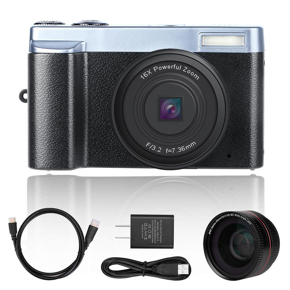 KOMERY, Новое поступление, цифровая камера 3,0 дюймов, ЖК дисплей, флип экран, 4 K, видеокамера, 16X, цифровой зум, поддержка Wi Fi, HD выход, селфи камера - 4