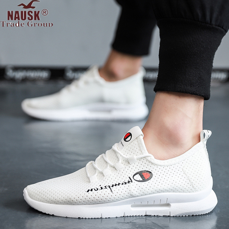 Men's Shoes Casual Fashion Shoes 2019 Slip On Black Running Shoes With Lace Breathable Sneakers Top Men Shoe Outdoor Big Size