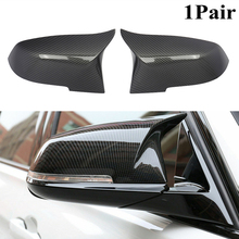 MagicKit 1 Pair Rearview Mirror Cover Cap ABS for BMW Series 1 2 3 4 X M 220i 328i 420i F20 F21 F22 F23 F30 F32 F33 F36 X1 F84 universal replacement carbon fiber mirror cover for bmw rearview door mirror covers x1 f20 f22 f30 gt f34 f32 f33 f36 m2 f87 e84