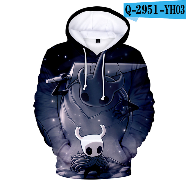 Game Hollow Knight Hoodie Unisex Casual Sweatshirt Pullover Jumper Coat Tops A13