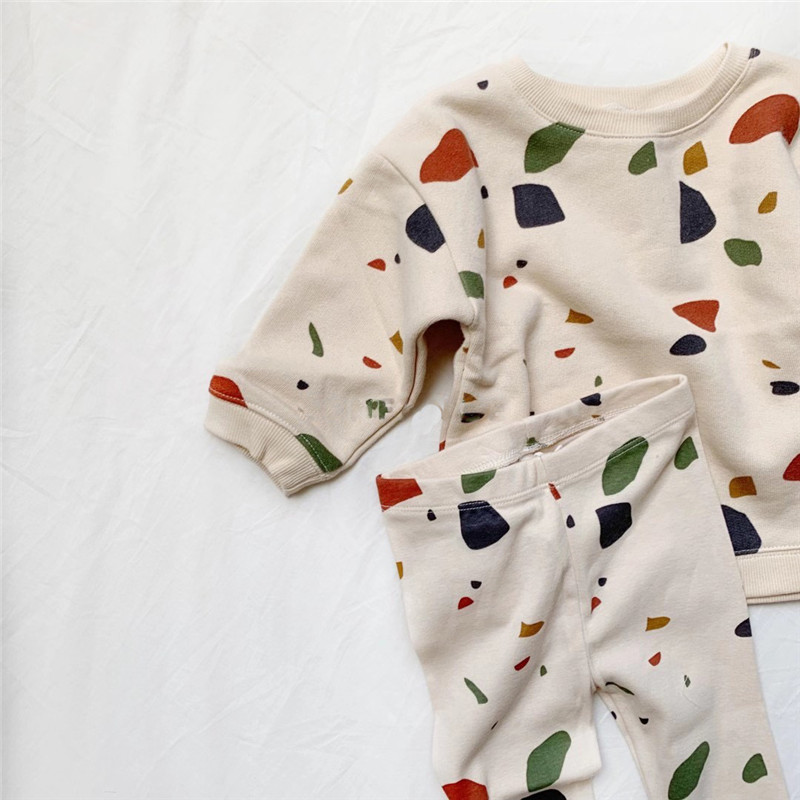 Newborn Sets Unisex Clothes Tops Sweatshirt and Pants Child Boys Casual Fashion Kids Long Sleeve Girl Boy Cotton Clothes Sets 5