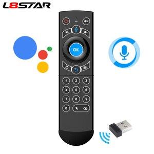 Image 1 - L8star Air Mouse подсветка гироскоп Google Assistant голосовой поиск микрофон 2,4G беспроводной пульт дистанционного управления для Fire TV Android TV