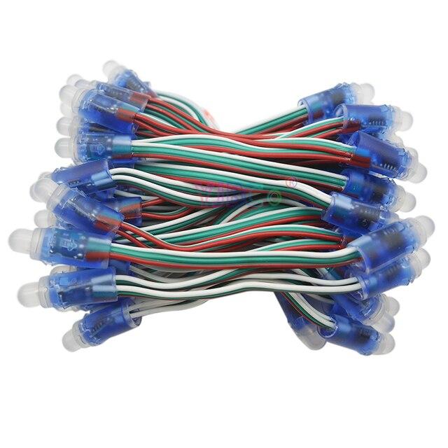 1000 قطعة WS2811 IC RGB بكسل LED مصابيح إضاءة وحدة كامل اللون وحدات مصباح عظيم للزينة الإعلان أضواء DC5V/12 فولت