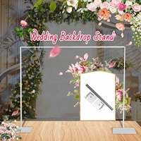 300*300cm Wedding Backdrop Stand Party Decoration Curtain Frame Photo Backdrop Stand Drapery Pipe Pole Galvanized Iron