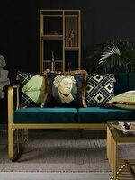 New European Statue Geometric Velvet Tassel Cushion Cover Pillow Cover Pillowcase Home Decorative Sofa Throw Pillows Living Room