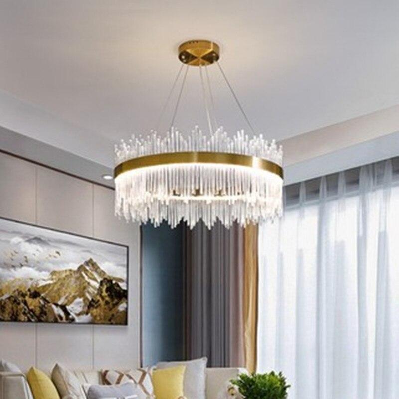 Постсовременный светильник, роскошная люстра с атмосферным кристаллом, люстра для гостиной, простой светодиодный светильник для столовой, люстра для спальни|Подвесные светильники|   | АлиЭкспресс