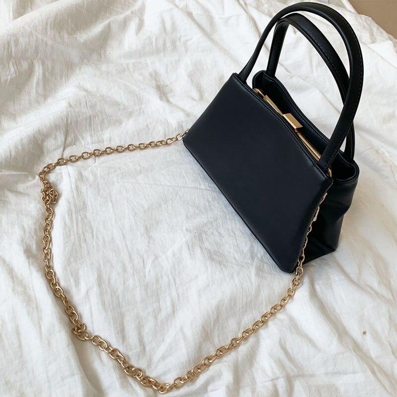 Fashion New Chain Clip Bag Portable Messenger Crossbody Bag Shoulder Bag Handbag Chic Wild Small Square Bag